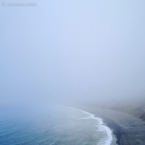 Agate's Beach on a foggy afternoon (the Nothing comes ashore)